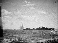 HMS Jaguar dropping depth charges 1940 IWM A868.jpg