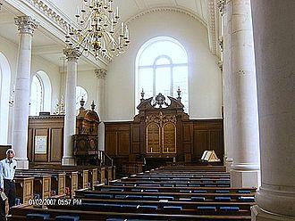 National Churchill Museum - Interior of St. Mary Aldermanbury Church