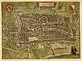 HUA-214015-Plattegrond van de stad Utrecht met directe omgeving; met stratenplan wegen en watergangen en gestileerde weergave van de bebouwing en het grondgebrui.jpg