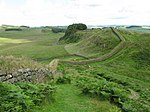 Hadrian's Wall and Housesteads Crags - geograph.org.uk - 1410595.jpg