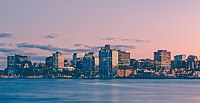 Halifax Harbour Sunset Skyline, Nova Scotia (24237034620).jpg