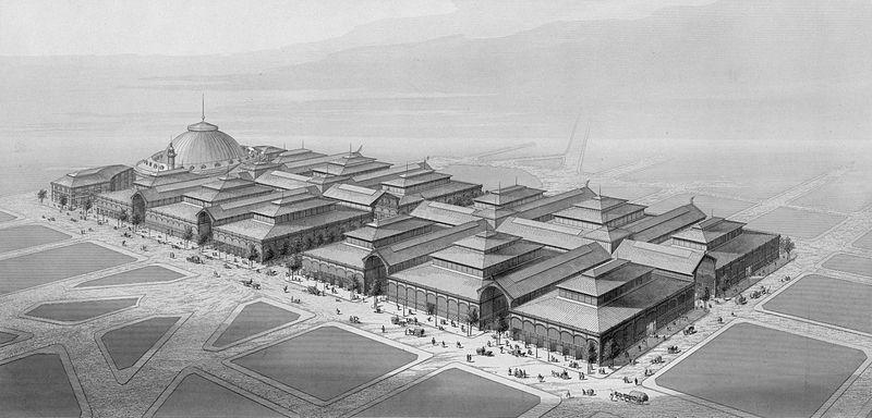 Fichier:Halles de Paris, 1863.jpg