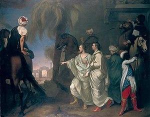 Robert Wood (antiquarian) - James Dawkins and Robert Wood Discovering the Ruins of Palmyra, by Gavin Hamilton (1758)