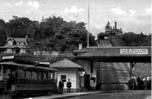Hamilton Street Railway - Streetcars of the Hamilton Street Railway rode a funicular across the Niagara Escarpment.