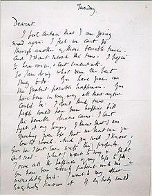 Manoscritto della lettera d'addio di Virginia Woolf a suo marito