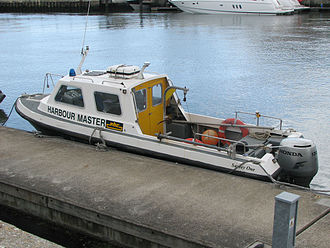 Harbourmaster - The Harbour Master's transport at Poole, Dorset, England.