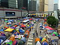 Harcourt Road under Umbrella Movement 20141101.jpg
