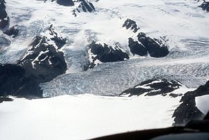 Ice field - Harding Icefield, Kenai National Wildlife Refuge