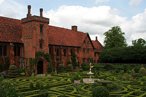 Elizabeth I of England - The remaining wing of the Old Palace, Hatfield House. It was here that Elizabeth was told of her sister's death in November 1558.