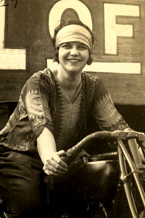 Wall of death - Hazel Watkins, who performed with Hager's Wall of Death in the 1920s