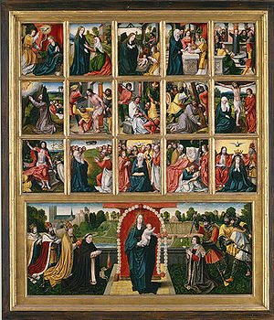 Life of the Virgin - The Fifteen Mysteries of the Rosary and the Virgin of the Rosary, a Rosary-based cycle.