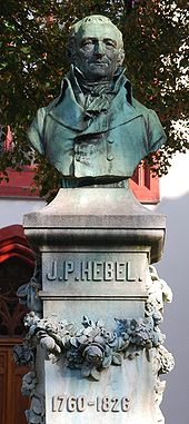 Memorial of Hebel by Max Leu, at the Peterskirche, Basel (Source: Wikimedia)