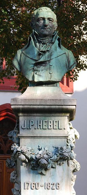 Johann Peter Hebel - Memorial of Hebel by Max Leu, at the Peterskirche, Basel