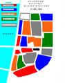 Heilbronn Einteilung der Altstadt in Blöcke für die Blockarchitekten Scheffler, Mahron, Mayer, Gabel und Wahl 1948.PNG