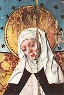 Heliga Birgitta på ett altarskåp i Salems kyrka.jpg
