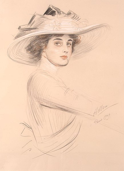 File:Helleu Paul Cesar - Portrait Of A Woman.jpg