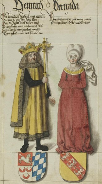 Gisela of Burgundy - Duke Henry II of Bavaria and his wife, by Lucas Cranach the Elder (1564)