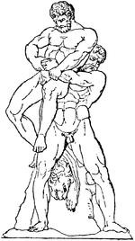 Herakles och Antaios, Nordisk familjebok.png