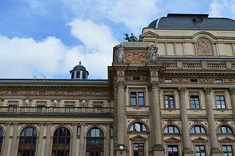 Hessisches Staatstheater Wiesbaden - Part of the west facade