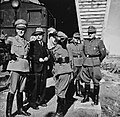 Higher Nazi officials on inspection at Ofoten line in 1942.jpg