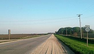 Iowa Highway 15 - Highway 15 in Rolfe