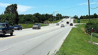 Lowell, Arkansas - Highway 264 near the I-49 interchange