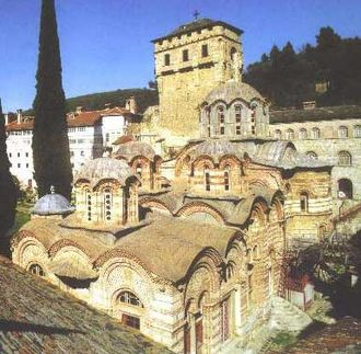 Hilandar - External view of the monastery.