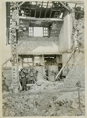 Battle of Hill 70 - Image: Hill 70 Water tanks in ruined house
