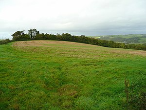 Annery, Monkleigh - Hilltop between the Rivers Torridge and Yeo looking north towards Annery Wood