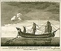 His Majesty's Ship the Grafton Commodore Charles Holmes, Commander, As she sailed to England with a Machine Constructed instead of her Rudder, which she lost in the late storm off Louisbourgh. Drawn by an Officer on RMG PU5954.jpg