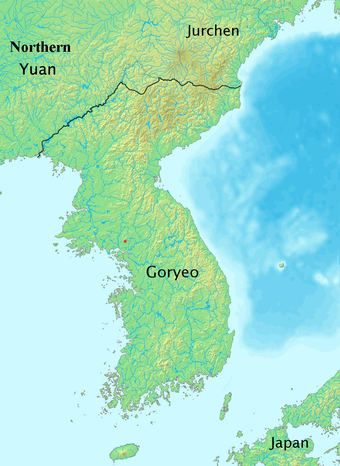 Goryeo in 1374 History of Korea-1374.png