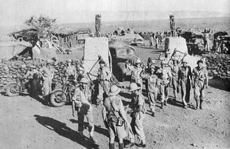1st Infantry Division (South Africa) - South Africans in Hobok Fort after its capture, 1941