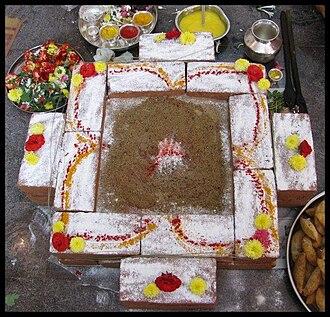 Homa (ritual) - Image: Homa kundam
