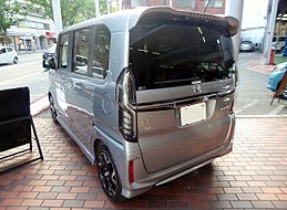Honda N-BOX Custom G・L Turbo Honda SENSING (DBA-JF3) rear.jpg