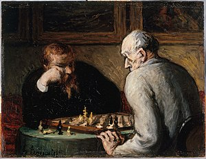 Honoré Daumier, The Chess Players