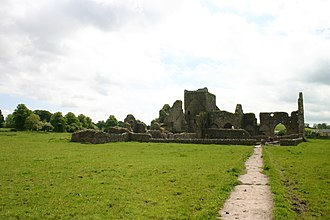 Hore Abbey - Hore Abbey from the path towards it