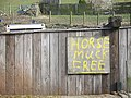 Horse manure sale sign at Gatebeck, Cumbria, England.jpg