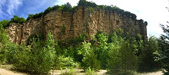 Mines of Spain State Recreation Area and E. B. Lyons Nature Center - View of Horseshoe Bluff from base