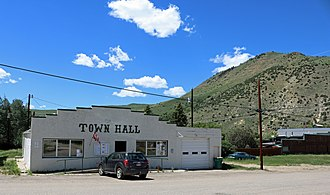 Hot Sulphur Springs, Colorado - Town Hall on Aspen Street