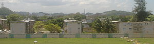 Public housing in Puerto Rico - Rear view of a public housing project, near Plaza Las Americas.