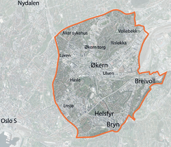 løren oslo kart Hovinbyen – Wikipedia