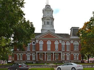 Howard County, Missouri - Image: Howard County MO Courthouse 20140920 pano 2