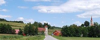 Hrastovica, Mokronog-Trebelno - Hrastovica from the west