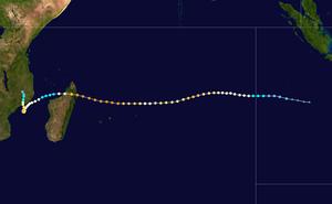 Cyclone Hudah - Image: Hudah 2000 track