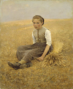 SALMSON Hugo (1843-1894) The Little Gleaner