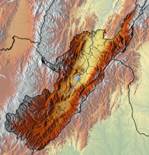 Huila Department - Image: Huila Topographic 2
