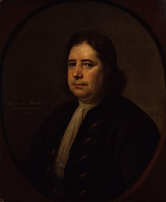 Wanley, 1717, by Thomas Hill. Humphrey Wanley by Thomas Hill.jpg