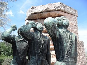 Memento Park - Image: Hungarian Fighters in the Spanish International Brigades' Memorial
