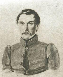 Пущин Иван Иванович, 1837. Художник Н. А. Бестужев