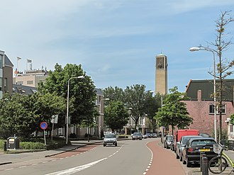 IJmuiden - IJmuiden, view to a street (town hall at the background)